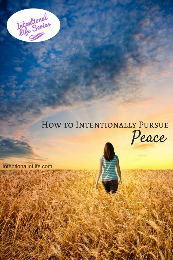 How to Intentionally Pursue Peace